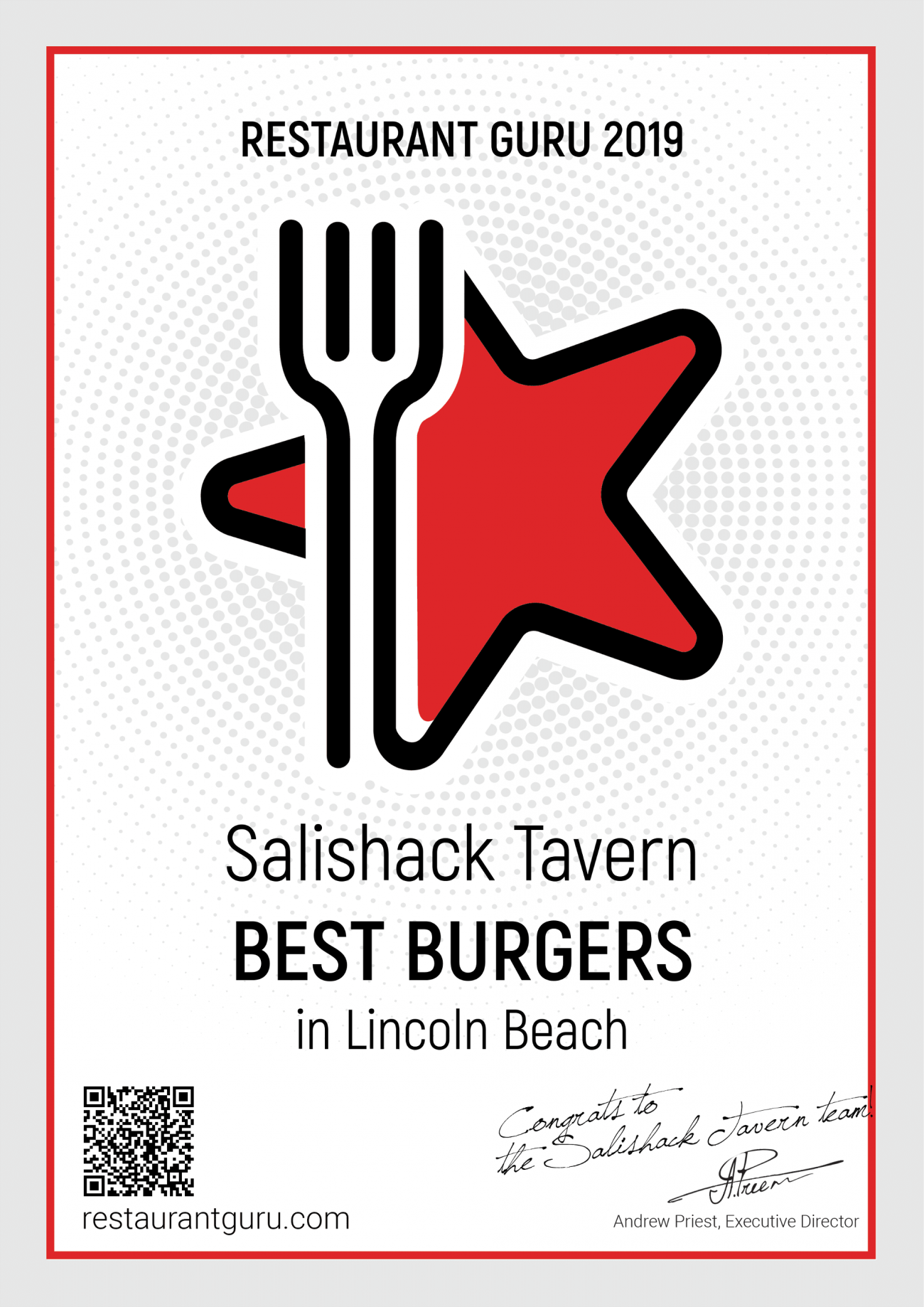 Voted #1 Best Burgers by Restaurant Guru (2019)